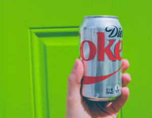 Cutie de Coca Cola dietetică