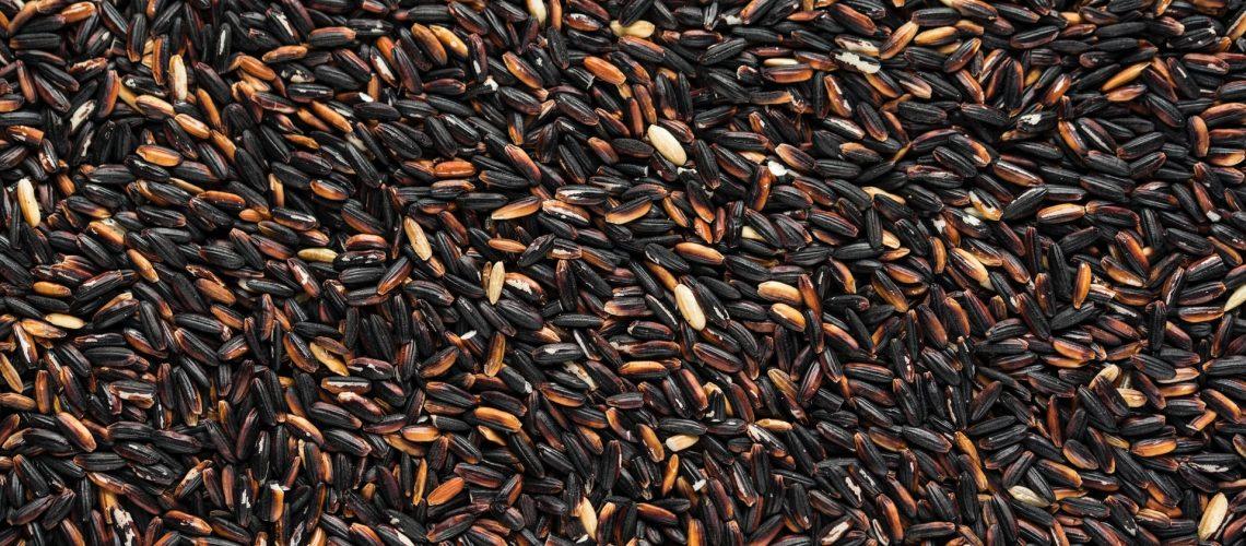 Boabe de orez negru